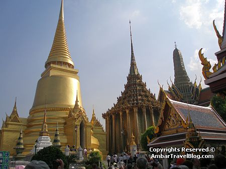 Golden Pagodas at Bangkok Palace