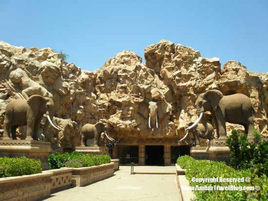 The Bridge Of Time, Sun City with elephants