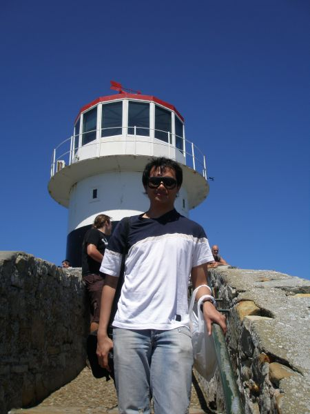 Ambar and the Light House at Cape Point