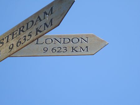 Distance to London from Cape Point
