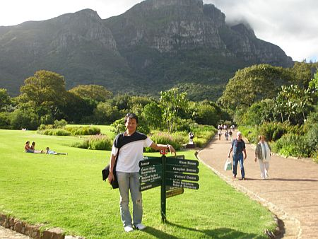 Ambar Hamid at the Kirstenbosch Botanical Gardens